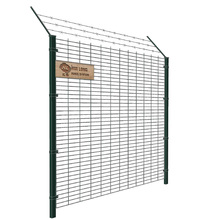 Triangle bend wire mesh fence/3D curved welded wire mesh panel fence with peach post