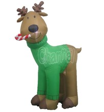 2016 New Christmas Inflatable Reindeer led Outdoor Garden Yard Decoration