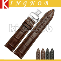 18mm 19mm 20mm 21mm 22mm Italian Leather Watch Bracelet Stainless Steel Butterfly Buckle Changeable Watch Band Strap