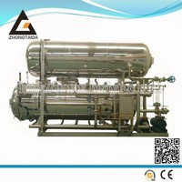 Horizontal Water Immersion Autoclave Food Industrial