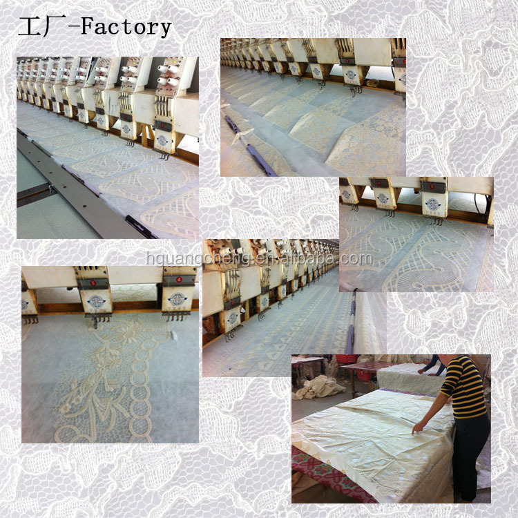 High Quality Cotton Embroidery African Lace Fabrics for Wedding Dress