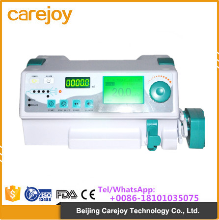 CE Approved Hot Sale voice alarm Clinic Device Portable Single-channel electric injection syringe pump