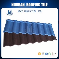 Nuoran new design stone coated tile roof picture,easy installation light weight metal roof