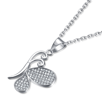 Silver Diamond Cross Necklace For Women