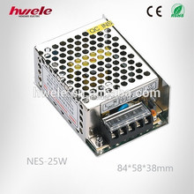 NES-25W Single output ac to dc efficient switching power supply 12v 2a with CE ROHS CCC KC TUV certification
