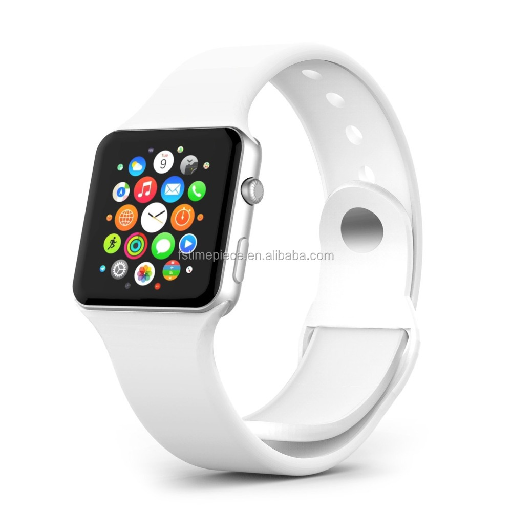 AP Watch Band, MoKo Soft Silicone Replacement Sport Band for 42mm Smart Wrist Band, WHITE (3 Pieces of Bands)