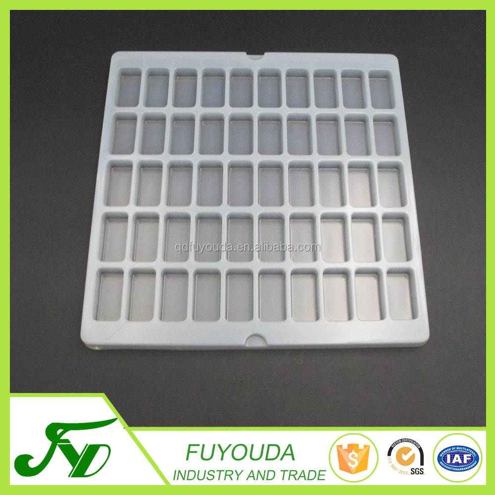 Fashion design square white plastic blister electronic box packaging