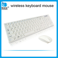 Hot sale 2.4g usb wireless keyboard and mouse for ipad with wholesale price