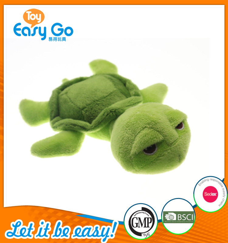OEKO high quality stuffed green tortoise for baby