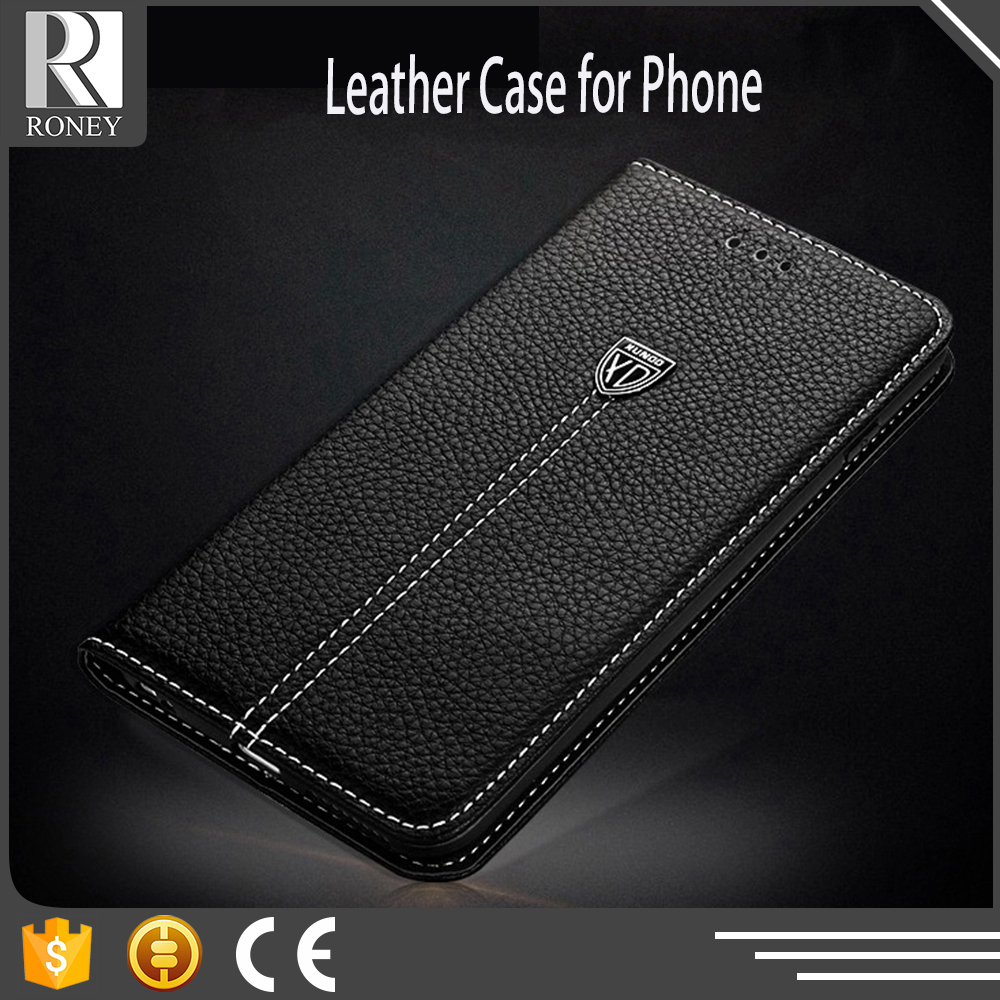 Customized wholesale cell phone real leather case for Iphone 4 4S 5 5S with card holster