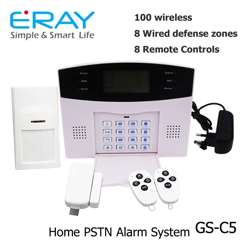 Eray PSTN smart home burglar alarm system/security system for home