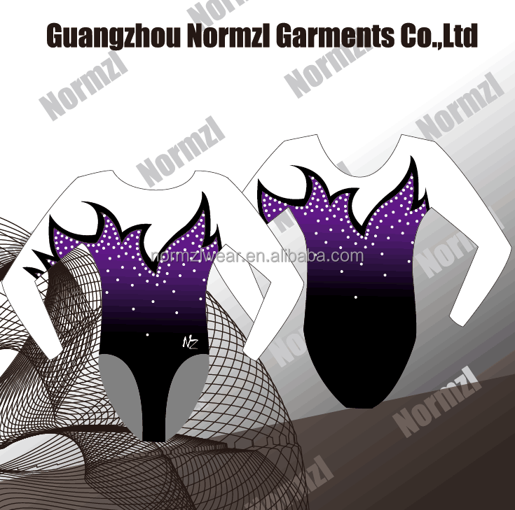 Custom sublimation printing practice wear gymnastics dance leotards