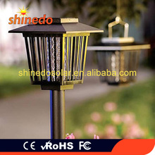 Newest Classical Waterproof Solar Powered Garden Bug Zapper Killer Lamp Mosquito Repeller Light