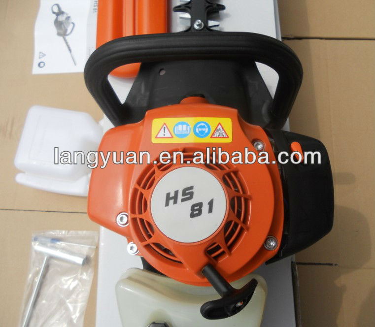 Long pole gasoline double blades hedge trimmer