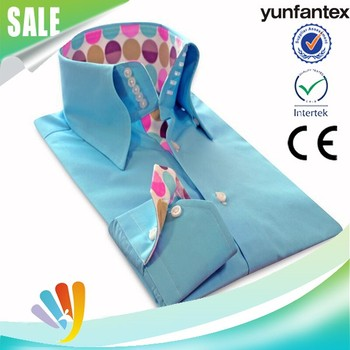 2017 yunfantex OEM & ODM service cotton spring long sleeve casual shirt for men high quality