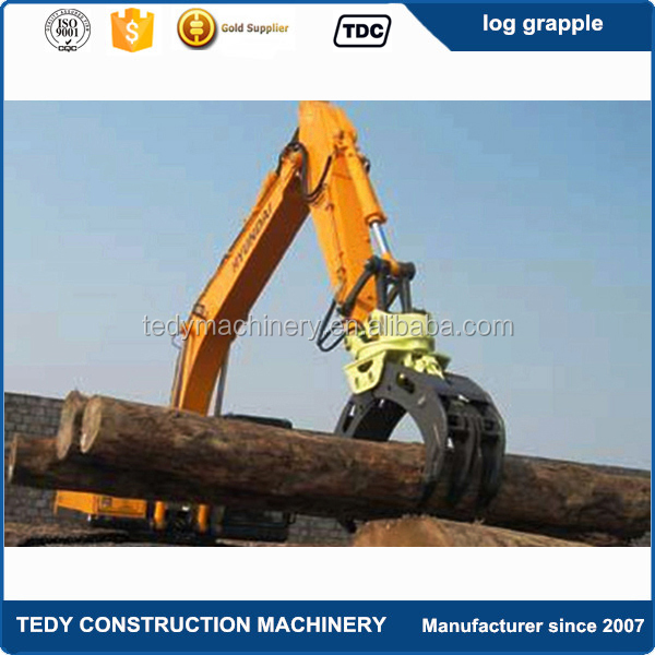 hot sale big open width 360 degree rotating tractor log grapple rotator for tractor