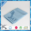 Top quality small size 100% woven acrylic airline throw blanket with custom jacquard names logos