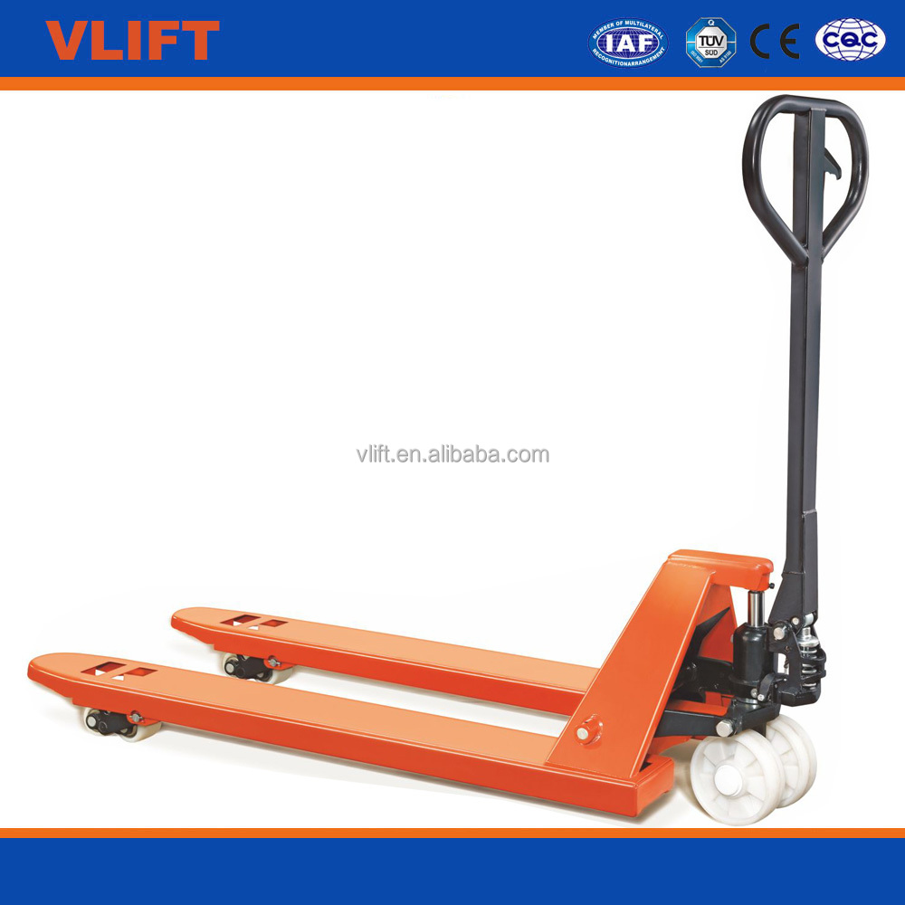 3 ton hand pallet truck with 1150*520 mm forks with PU wheels with welded pump