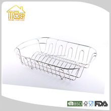 Portable Metal Wire kitchen plate rack with Chrome Plating