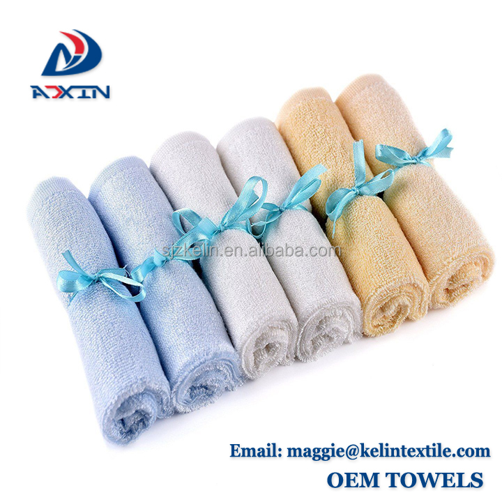 Sample free 10x10 inch organic bamboo washcloth for baby bath/face washer