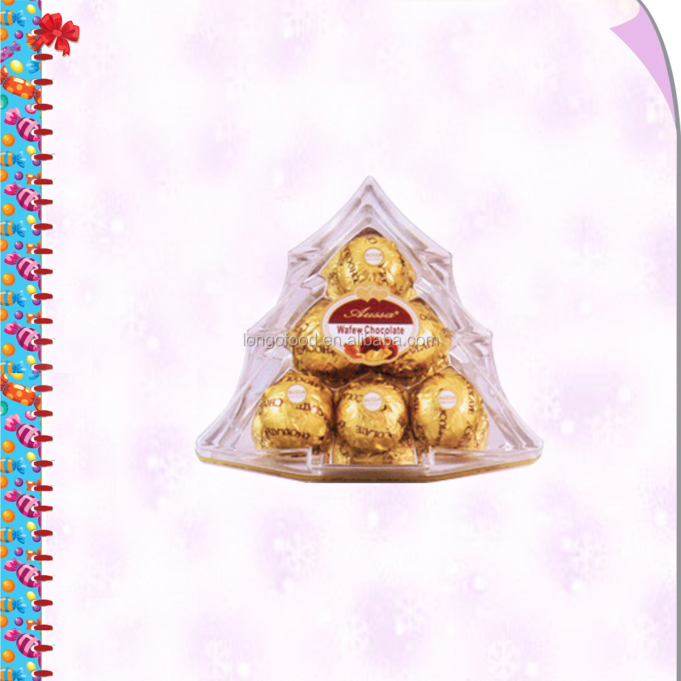 6pcs chocolate in christmas tree shape gift box