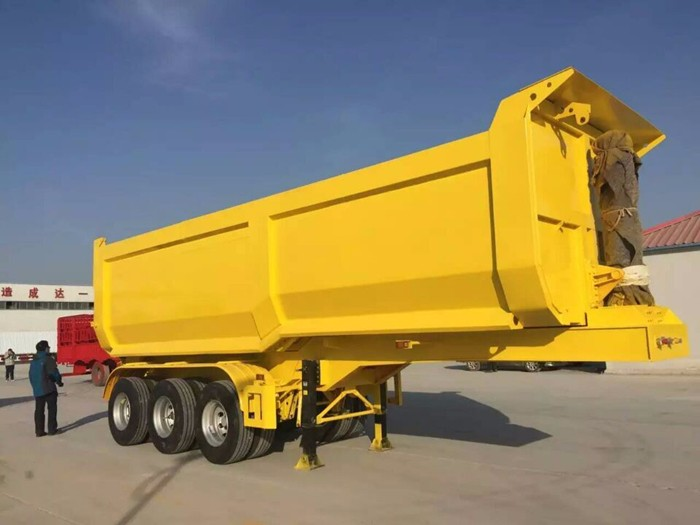Dump Truck 3 Axles : Axles tonnes dump trailer truck with hyva lift buy