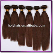 New products wholesale top quality brown chocolate human hair