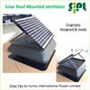 Axial Flow Fan Roof Mounted Solar Heat Extractor