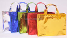 On Sale fashion recycle carry bags/ laser silver coated nonwoven bag/ colorful pp coated non woven bag LS Eplus