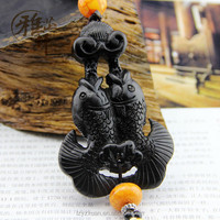 Popular 3D Double Fish Shaped\Pisces Wood Carved Crafts Custom Car Hanging Pendant