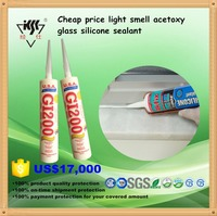 cheap price light smell acetoxy glass silicone sealant