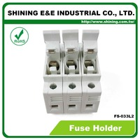 FS-033L2 LED Indicator 380V 32A 3 Pole 10x38 Cylindrical Fuse Carrier