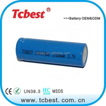 2015 wholesale 17500 3.7v 1100mah lithium battery for Remote control
