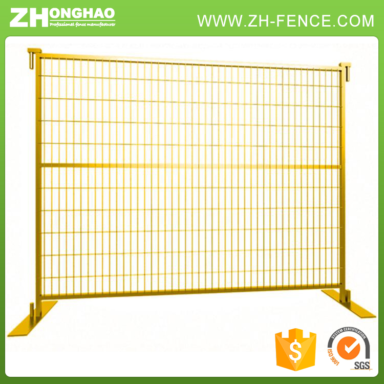 Construction Sites Pipes Steel Clamps Temporary Fence