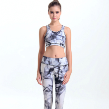 wholesale digital print activewear sets bra top and pants yoga sport suits