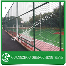 Black green color chain link mesh sports court fence