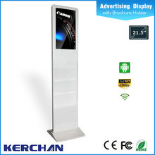 2016 new led banner display with brochure holder for bank office