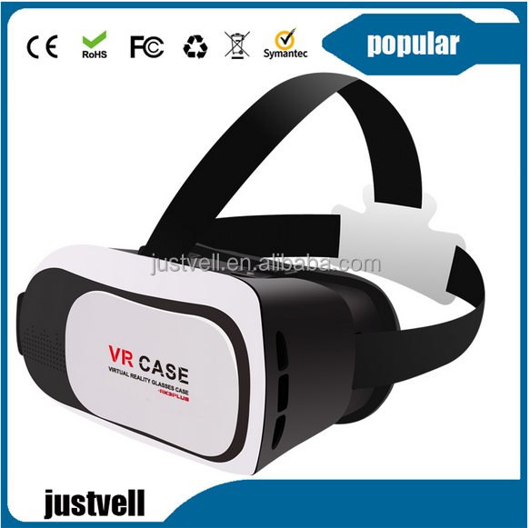 2016 Fashionable 3D Virtual Reality Headset Open Sex Film, 3D VR Glasses with Adjustable Head Strap for 3D Movies and Games