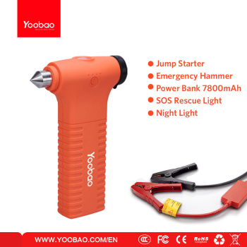 Yoobao Multi-function Jump Starter with Emergency Hammer/Power Bank