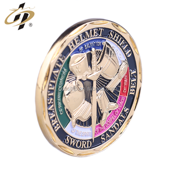 Custom zinc alloy gold 3D military metal challenge coins
