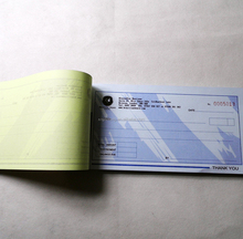 printed carbonless invoice book customized design