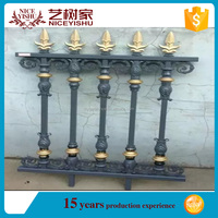 Yishujia factory allibaba wholesale metal fence, solid cast aluminum fencing