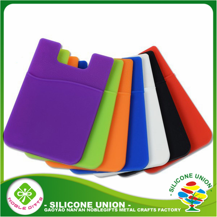 Wholesale silicone card holder , silicone phone wallet , silicone phone case