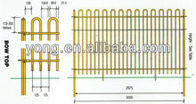 loop top garden fence