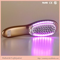 Laser rust removal hair brush wholesale hair growth laser comb Infrared massage comb