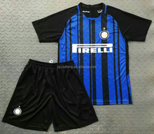 2017-2018 Inter Milan Good Quality Home Soccer Jerseys and Shorts