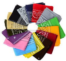 2016 new assorted multifunctional seamless square Cotton tube cheap Cotton sport Headwraps scarf paisley Bandanas ,22 x 22- Inch