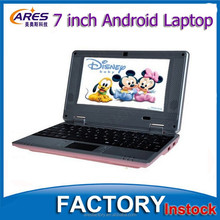 White/Black/Pink/Red/Green Colors Small 7 Inch Android 4.2 OS 512MB 4GB Low Price Mini Laptop
