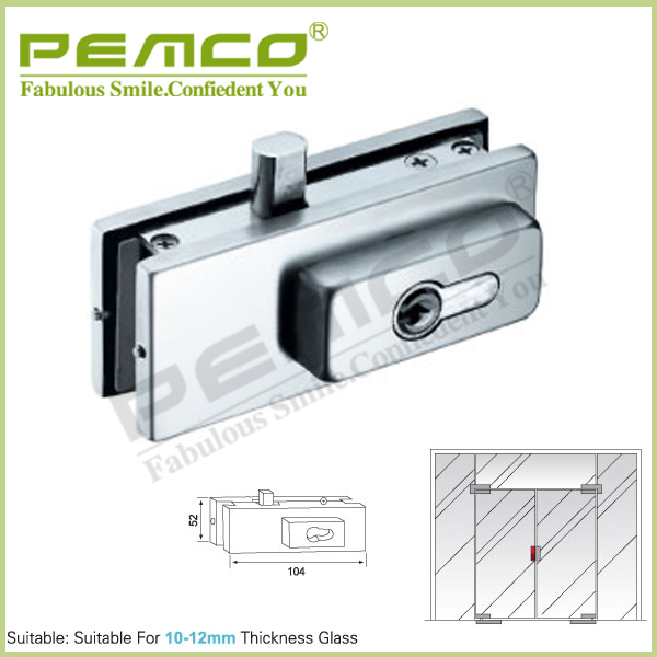 China hardware factory manufacturer stainless steel glass door patch fitting lock