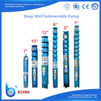 High efficiency electric deep well submersible water pump